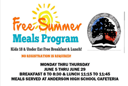 Free Summer Meals Program!