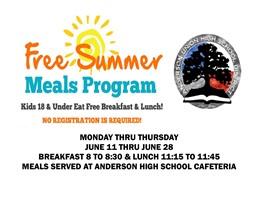 Summer Meals Program Banner