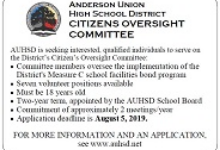 AUHSD CITIZENS OVERSIGHT COMMITTEE