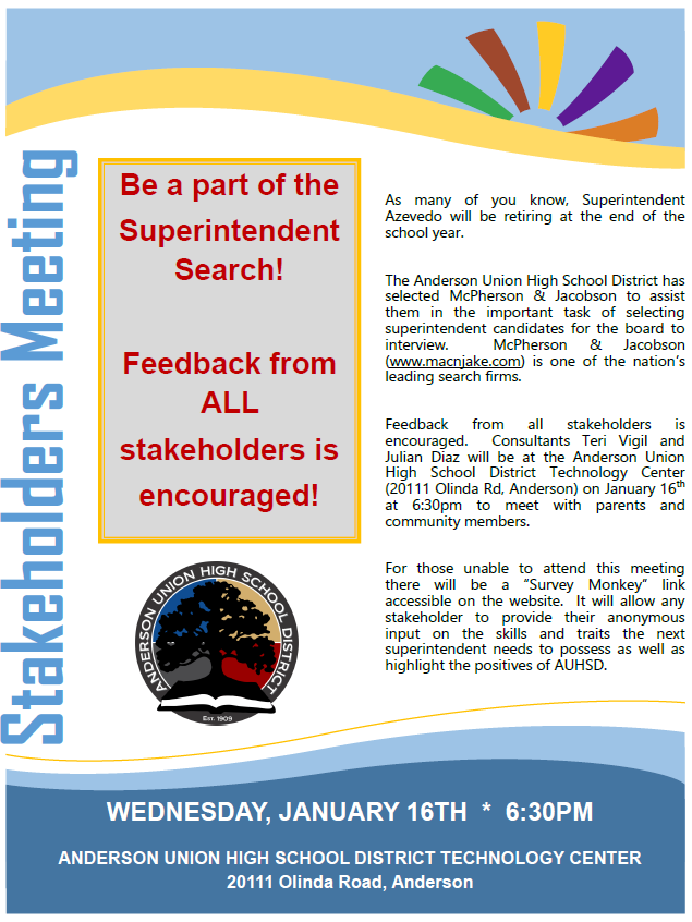 Stakeholders Meeting Flyer