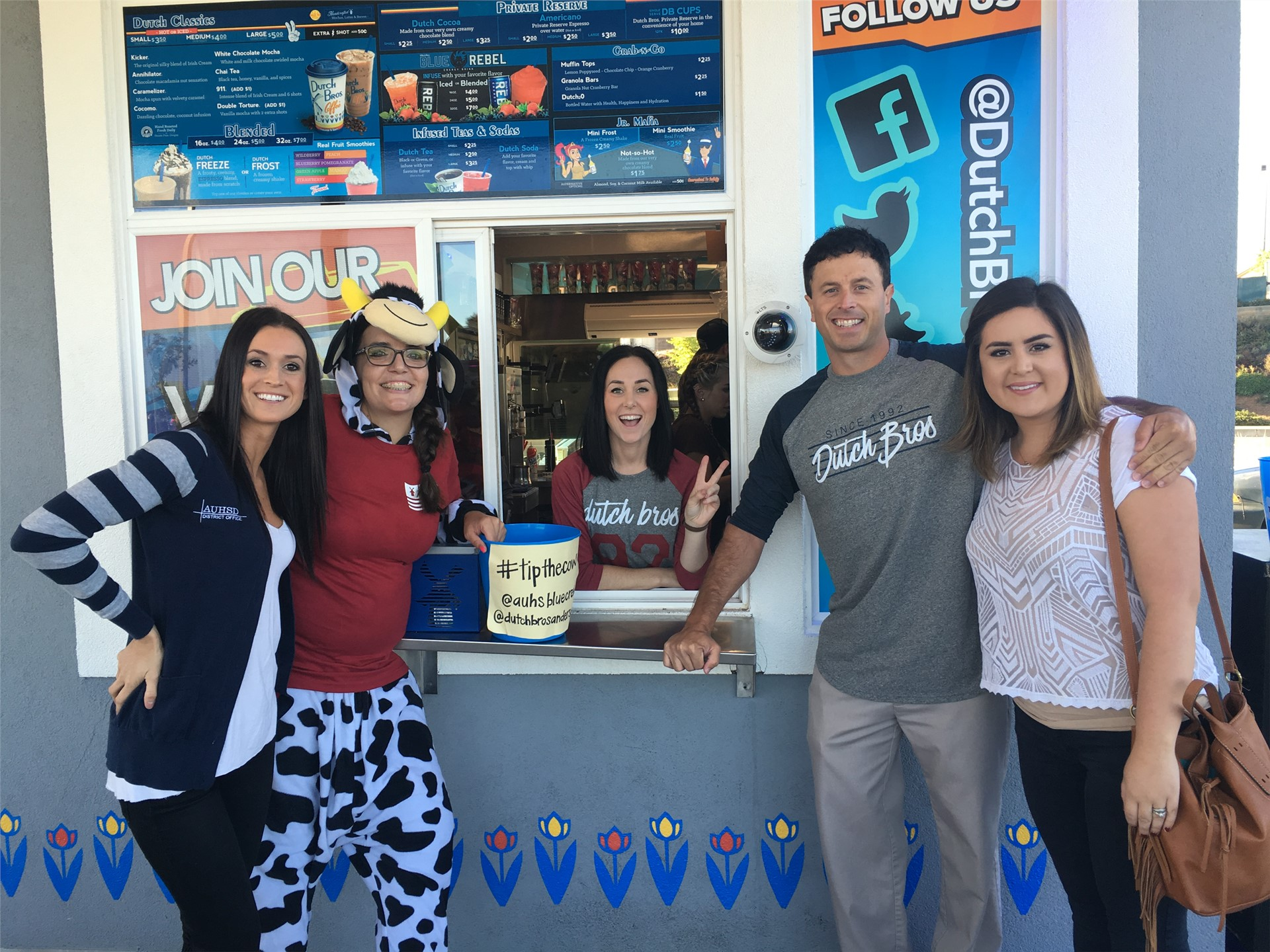 Lisa, Katy, Josh, and Jenna at Dutch Bros.