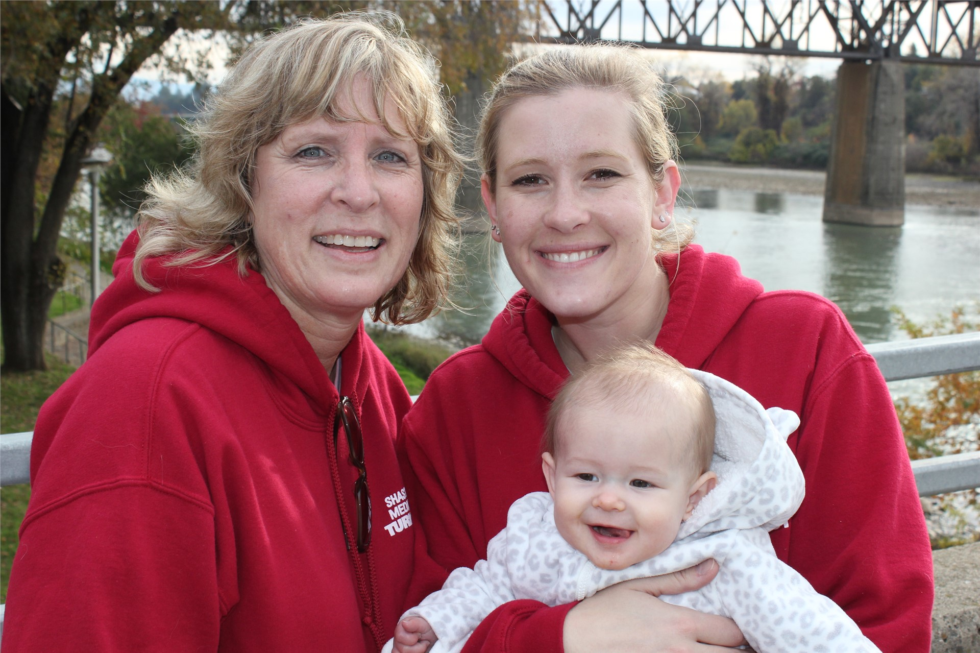 Cathy Alderman and Family on Bridge