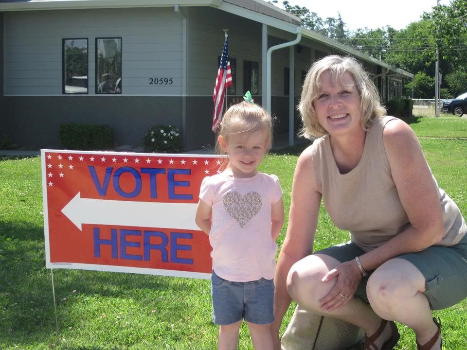 Cathy Alderman and Grandchild
