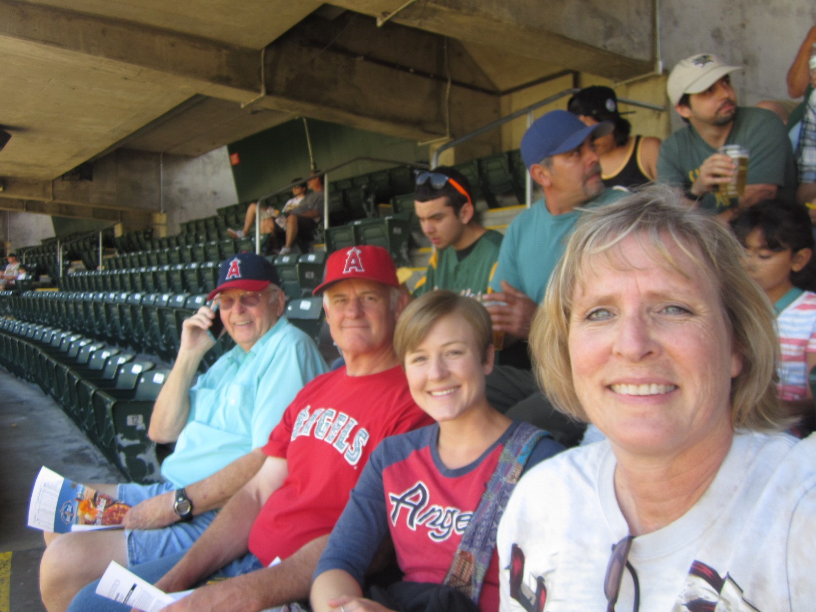 Cathy Alderman Family at Ball Game