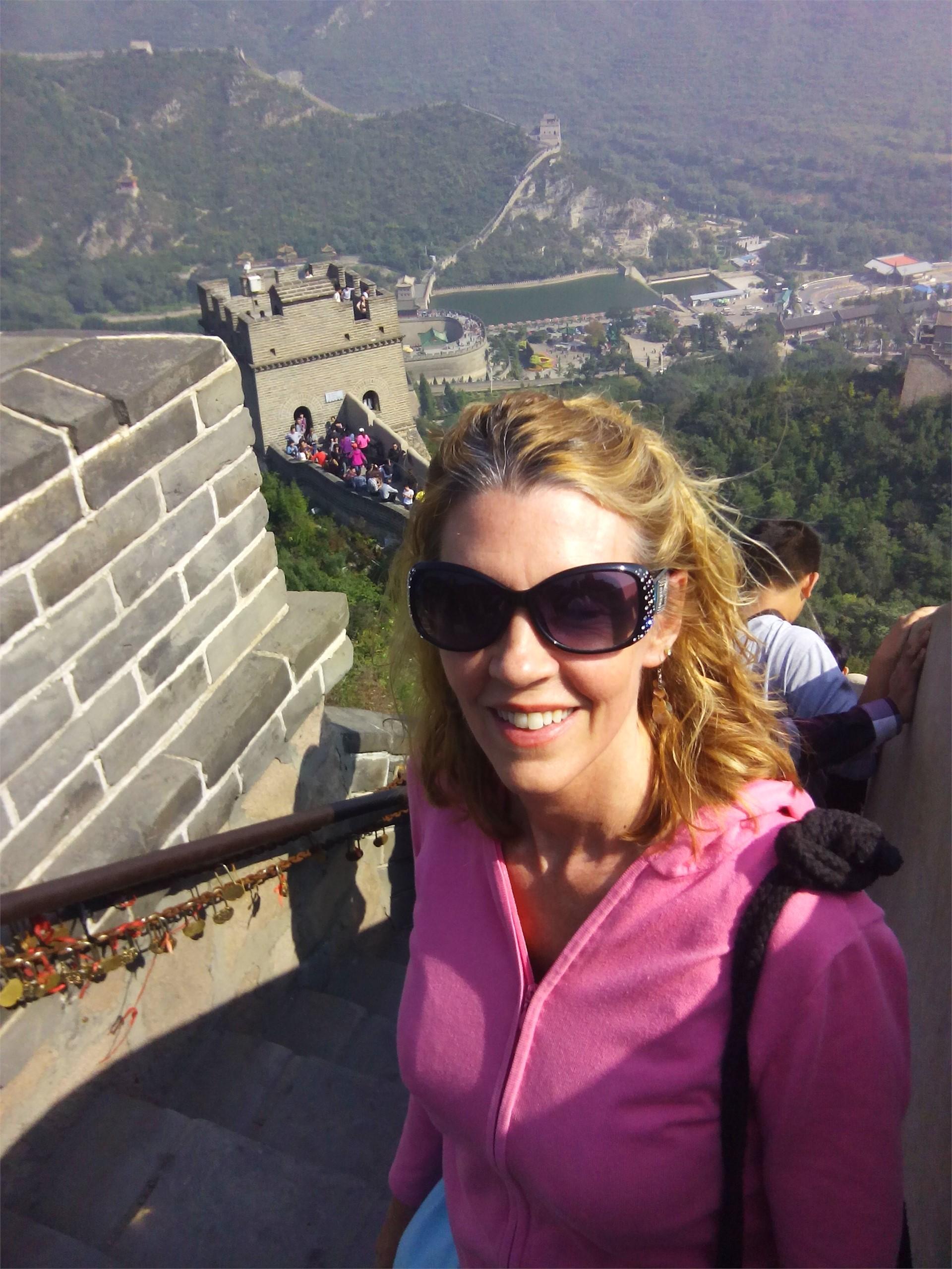 Tamara Pemberton on the Great Wall of China