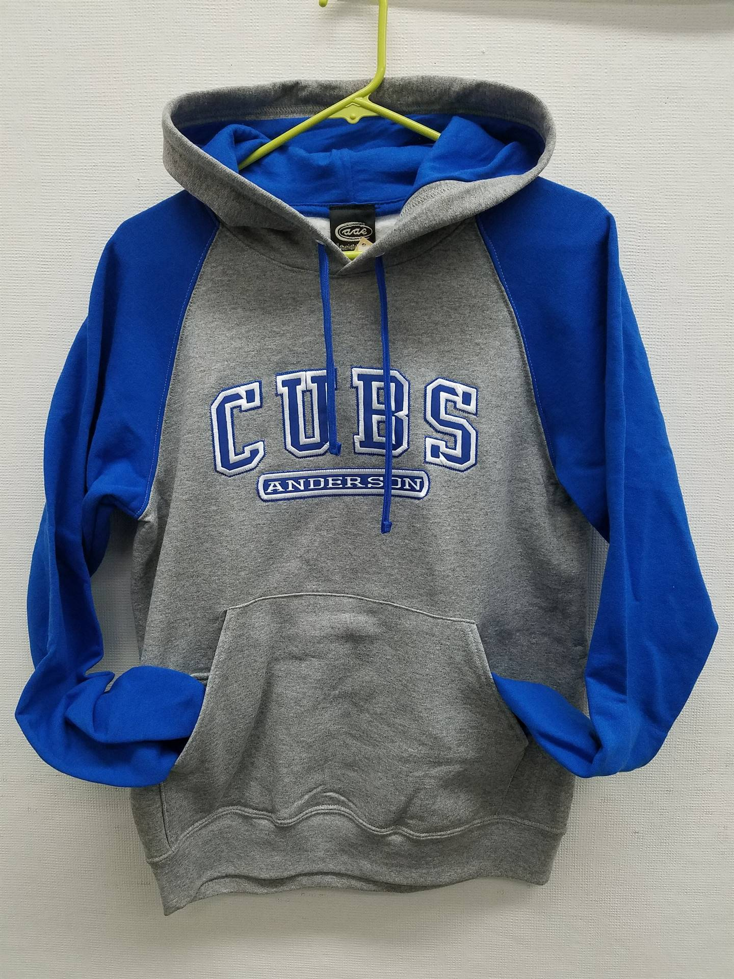 Blue and Grey Hoodie Enbroidered