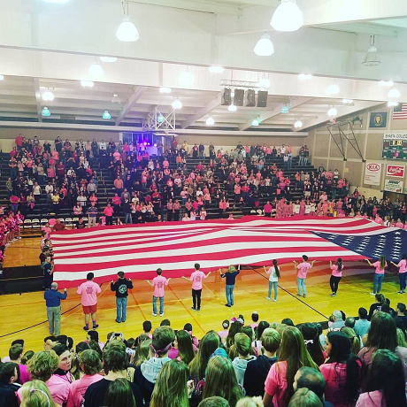 National Anthem at Pink Out Game