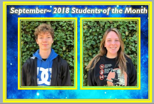 September 2018 Student of the Month