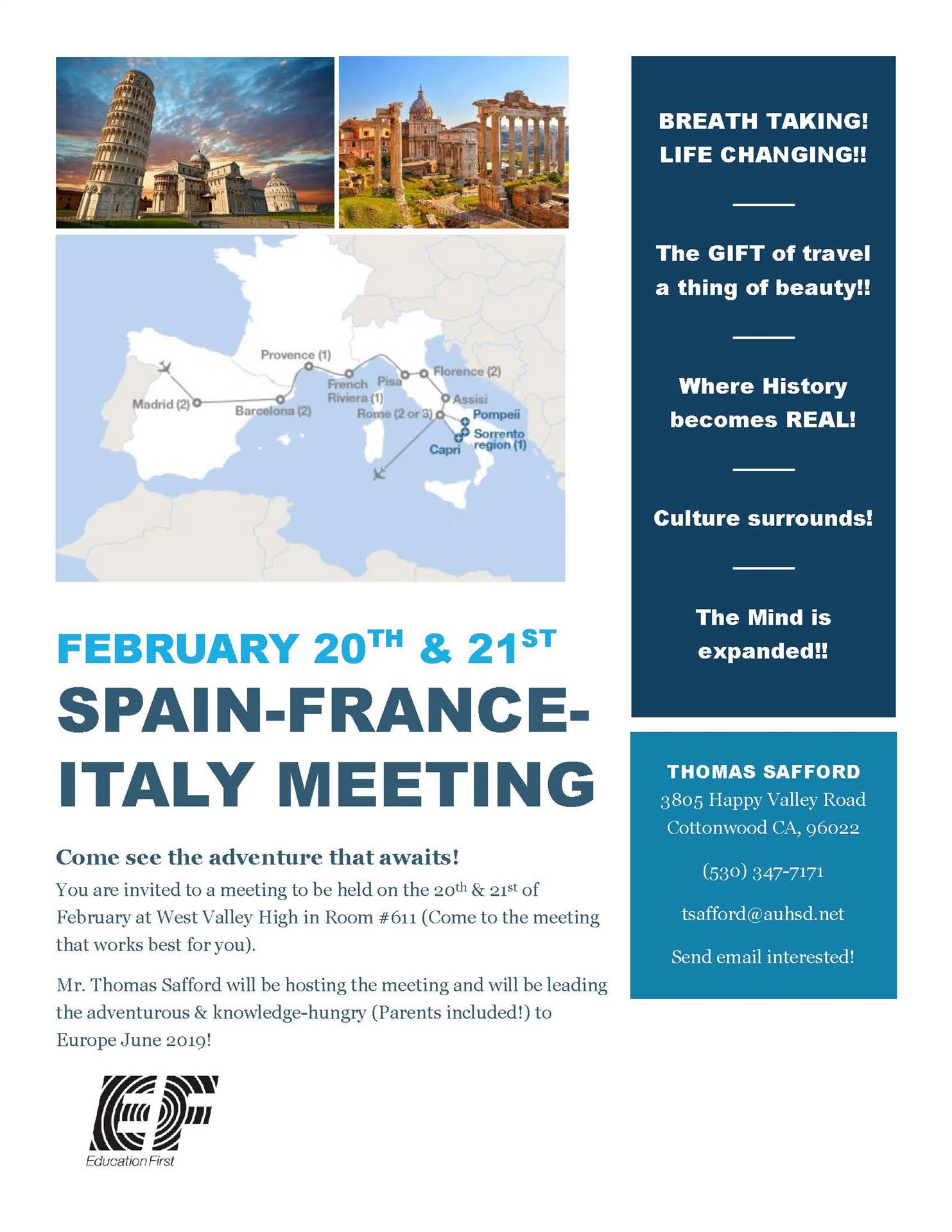 Spain/Italy/France Meeting, February 20-21
