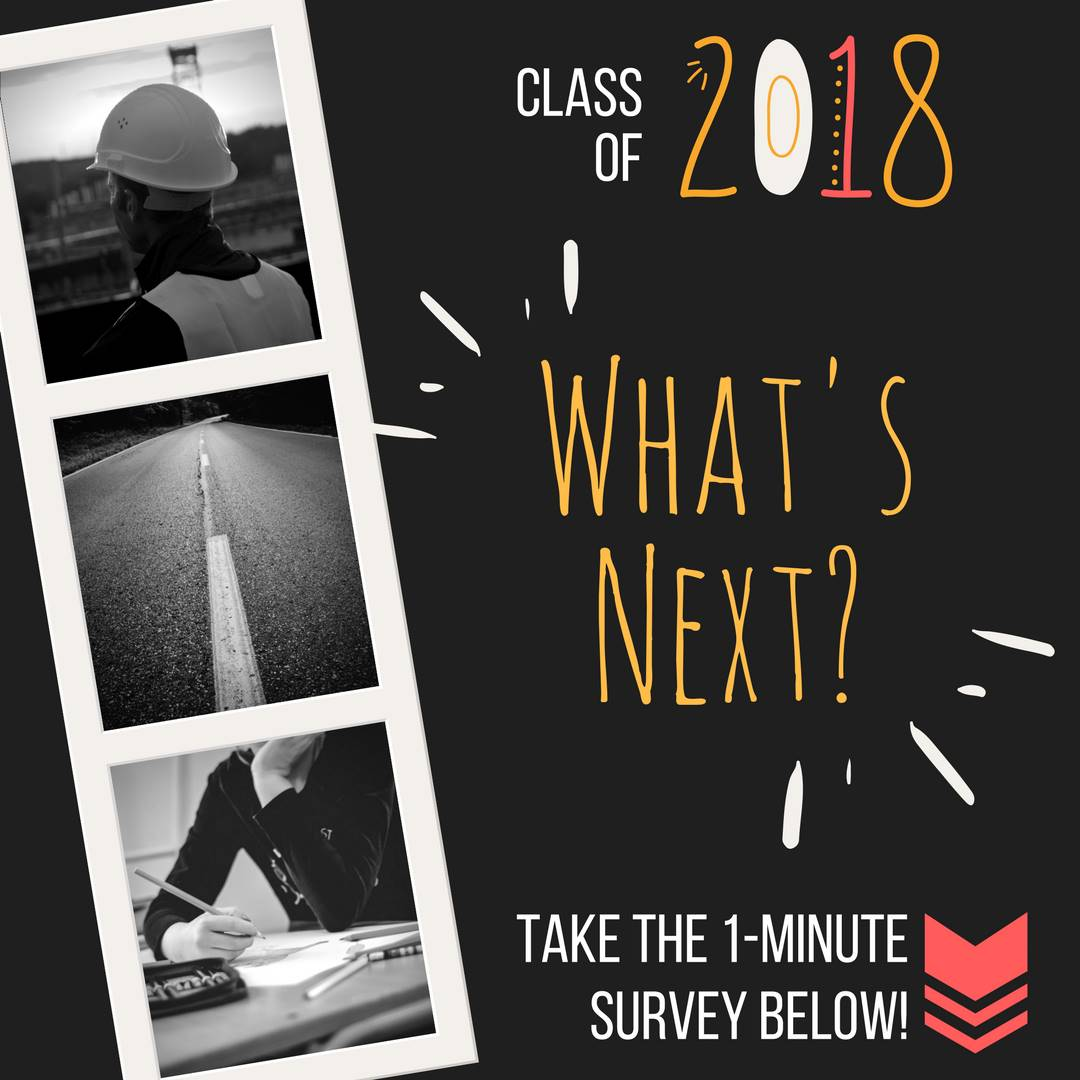 What's next? Class of 2018 survey below!