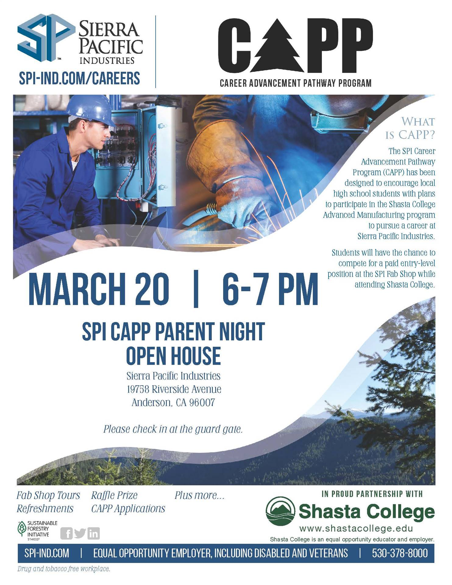 March 20 6:00 PM; Sierra Pacific CAPP Night
