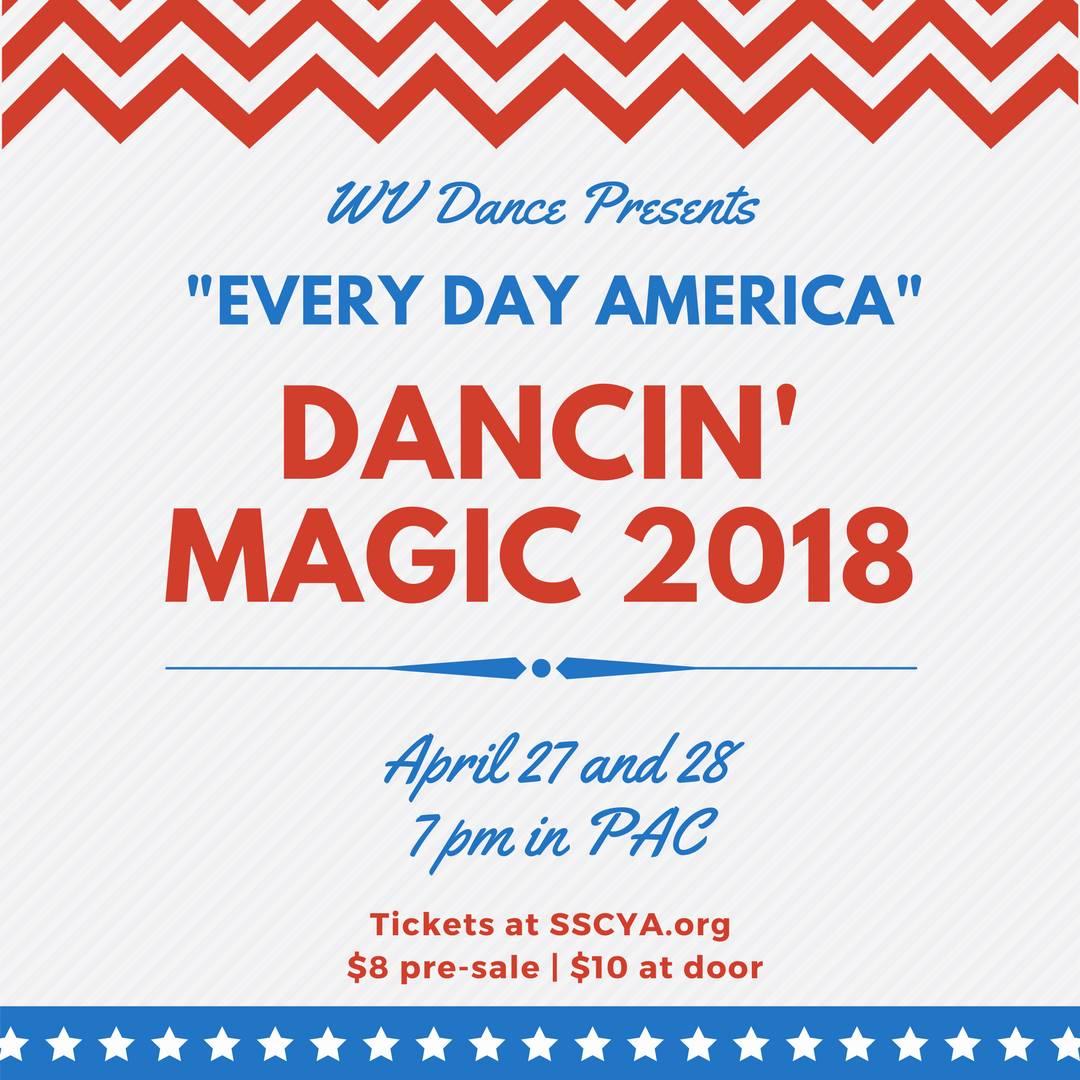 Dancing Magic 2018: April 27 & 28 at 7 pm in PAC