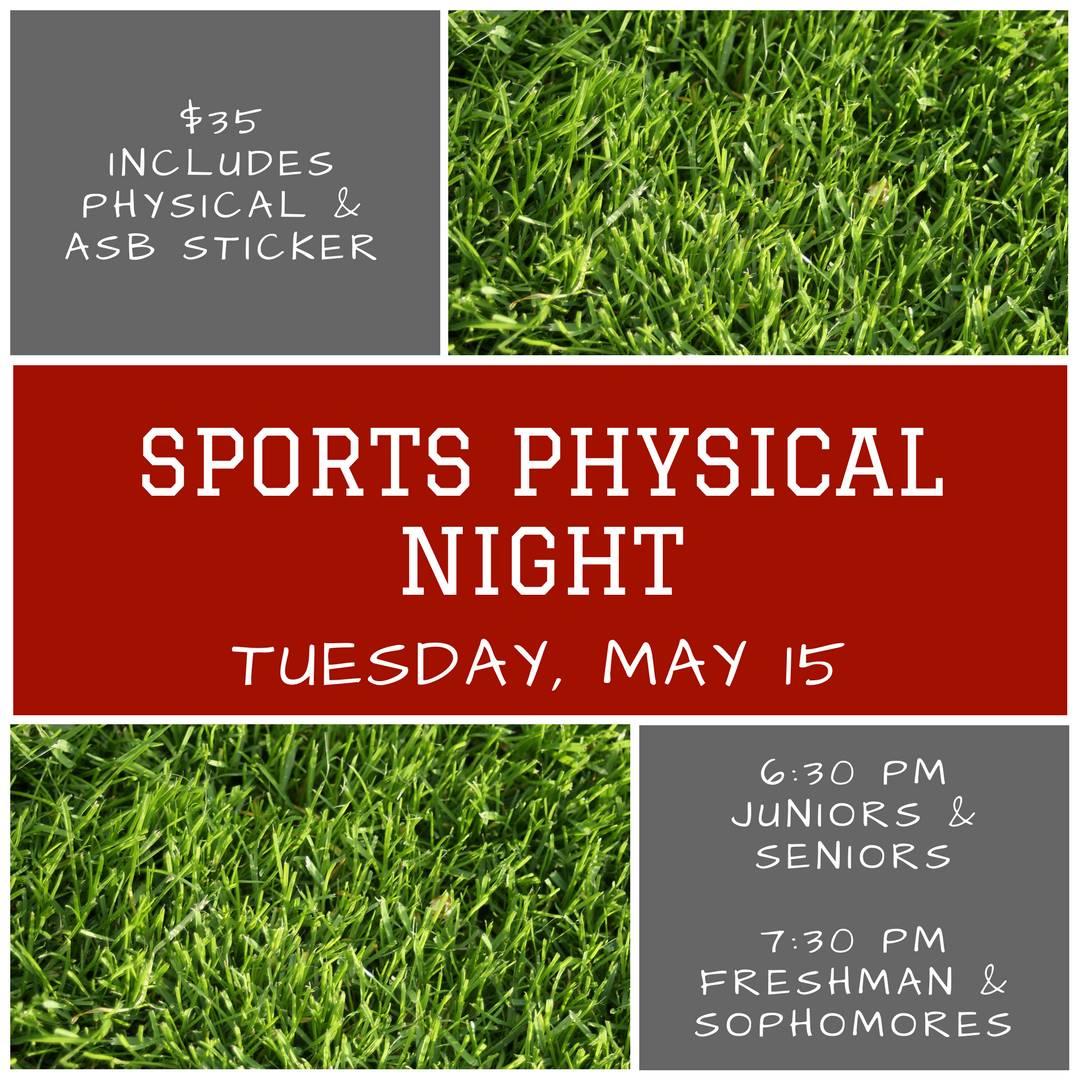Sports Physical Night May 15