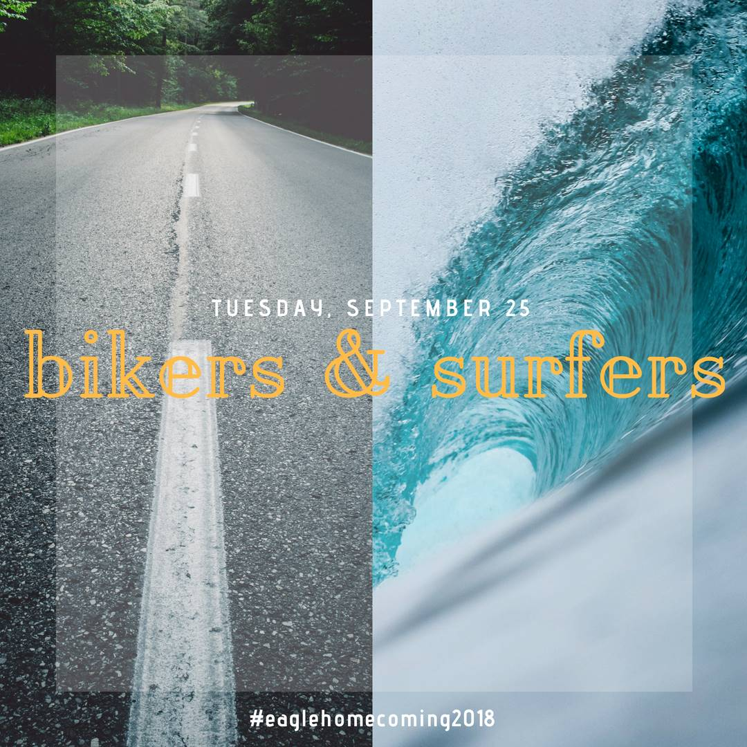 Tuesday: Bikers and Surfers