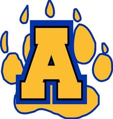 Anderson Cubs Pawprint Logo Graphic