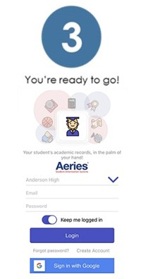 Aeries Login Screenshot